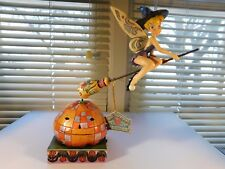 Jim Shore DISNEY'S TINKERBELL's PIXIE TAKES FLIGHT Halloween Rotating Decor