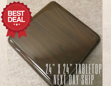 "New 24""x24"" Resin Restaurant Table top in Walnut (Eased Edge) with Quick Ship"