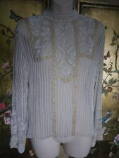 1920s vintage style cream beaded silk top exquisite 10 S