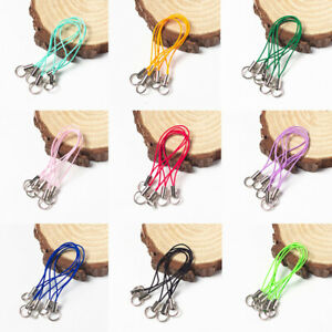 10PCS Mobile Phone Cord Mobile Charm Lanyard Strap Thread Buckle Lobster Clasps