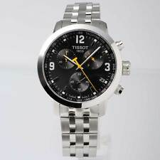 Tissot T055.417.11.057.00 PRC200 Mens Watch CHRONO Black Stainless Steel