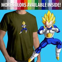 Vegeta Anime Super Saiyan Anime Manga Unisex Mens Tee Crew T-Shirt