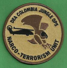 DEA COLOMBIA JUNGLE OPERATIONS NARCO-TERRORISM ENFORCEMENT UNIT SHOULDER PATCH