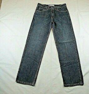 Lee Premium Men's 33 x 32 Jeans Medium Wash Denim Relaxed Straight Leg