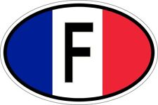 Sticker Oval Flag Code Country F France