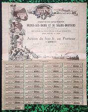 Dépt 73 & Lyon - Superbe Action sur le Thermalisme et les Eaux Minérales - 1894