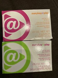 Mary Kay ATPLAY JUST FOR EYES-SHADOW/FOR LIP GLOSS (TRIO BUNDLE) NEW- FAST FREE