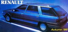 1987 Renault Original Sales Brochure - 9 11 5 21 Espace 25 Alpine GTA Trafic Van