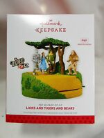 2013 Hallmark Keepsake Ornament Lions And Tigers And Bears The Wizard Of Oz
