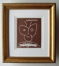 """COOL PICASSO Exhibition Poster """"Pablo Picasso in Vallauris"""" Framed SIGNED COA"""