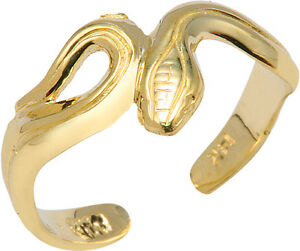 Gold Snake Toe Ring