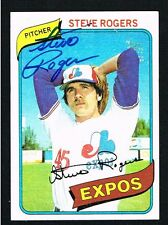 Steve Rogers #520 signed autograph auto 1980 Topps Baseball Trading Card