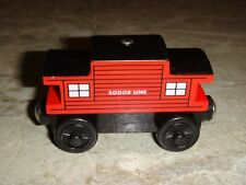 Thomas & Friends Wooden SODOR LINE CABOOSE New, US Seller, Fast Shipping from MA