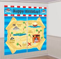 PIRATES TREASURE MAP SCENE SETTER PARTY WALL DECORATION POSTER PIRATE BIRTHDAY