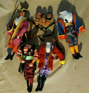 """Mego REPRO SUPER PIRATES & SEAWORLD PIRATES 8"""" heads and bodies for customs"""