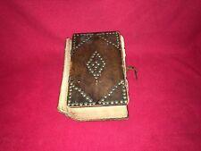Antique German Bible Tack Design Leather Cover Philadelphia 1831 J. Howe