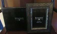 Bombay Black & Silver 5x7 Picture Frame NEW IN BOX