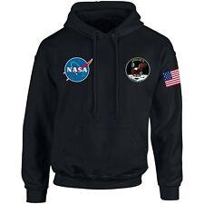 NASA ASTRONAUT USA FLAG PRINT Pocket AMERICAN Logo Hoodie Men Women Unisex N2