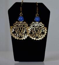 Base metal gold tone Dangle Earrings Handmade fashion Jewelry India