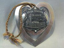 Vintage 1910-20's Union Station St Louis Badge Medal Railroad Station Bookmark