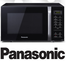 PANASONIC 25L SOLO MICROWAVE OVEN BLACK NN-ST34HB 800W 9 PRESET AUTO MENU