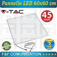 PANNELLO LED 60x60 CM 45W LUCE LED QUADRATO INCASSO UFFICIO LOCALE PLAFONIERA