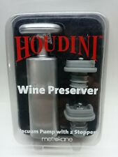 New Houdini Wine Preserver Vacuum Pump With 2 Stoppers Unopened