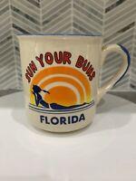 Retro Vintage Florida Sunset Coffee mug Sun your Buns made in Korea