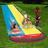 6.1m 20ft Dual Kids Inflatable Water Slide Summer Garden Water Splash Fun  .☆a