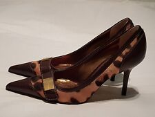 DOLCE&GABBANA Leopard Skin Pattern High Heeled Shoes Size 36.5 uk 3.5