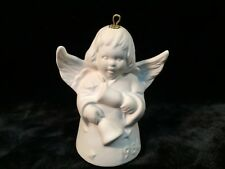 Goebel 1986 Eleventh Edition Angel Bell Annual Christmas Tree Ornament Bisque Wh