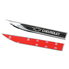 New 2pcs Metal Black Chevrolet Blade Fender Badge Emblems Sticker For Sport