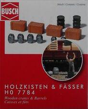BUSCH 7784 Crates & Barrels 00/HO Model Railway Accessories