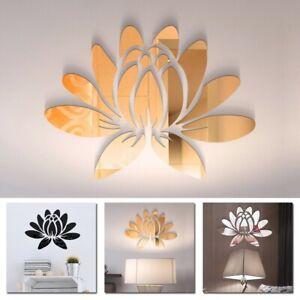 3D Adesivo da Parete Specchio Arte Acrilico Decalcomania Casa IN Fiore 25 18cm
