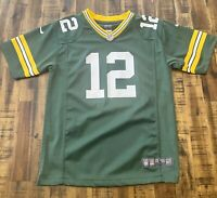GREEN BAY PACKERS AARON RODGERS JERSEY BY NFL NIKE ON FIELD BOY'S L