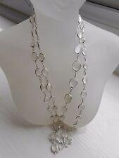 Hallmark Sri Lanka Sterling Silver Moonstone 82 cm Chain Necklace (N20/10) (NEW)