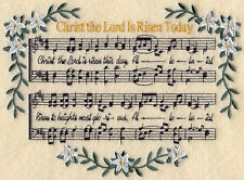 CHRIST THE LORD MUSIC - MACHINE EMBROIDERED QUILT BLOCK (AZEB)