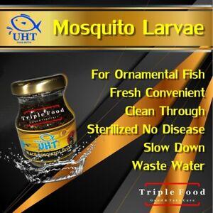 Betta Food Ornamental fighting Fish Shrimp UHT Black Mosquito Larvae 1x75 g