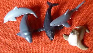 AUSTRALIAN ANIMAL SEALIFE set of 5 REPLICAS - SHARK WHALE DOLPHIN SEALION