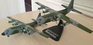 ATLAS EDITION, TWO RAF LOCKHEED C130 H HERCULES TRANSPORT PLANES, USED, UNBOXED!