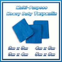 5x8m Blue Strong Tarpaulin Heavy Duty Waterproof Cover Weather Proof Hootch Tarp