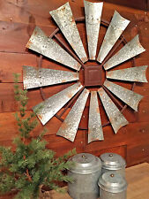 "Rustic Windmill Head Fan Antique Barn Farmhouse Wall Decor 30"" NEW"
