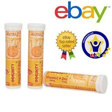 60 Tabletas Vitamina C + Cinc Naranja Sabor Efervescente Natural Max Absorción