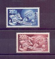 Saarland 1950 - Europarat - MiNr. 297/298 postfrisch** - Michel 230,00 € (134)