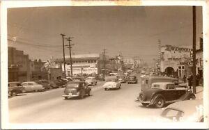 Real Photo Postcard Revolution Avenue in Tijuana, Baja California Mexico~139901