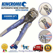 Kincrome Automatic Wire Stripper with Crimper 200mm Electrical Crimping Tool NEW
