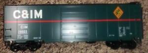[25] WEAVER / RGS TRAINS C&IM CHICAGO & ILLINOIS MIDLAND PS-1 40' BOX CAR 2-RAIL