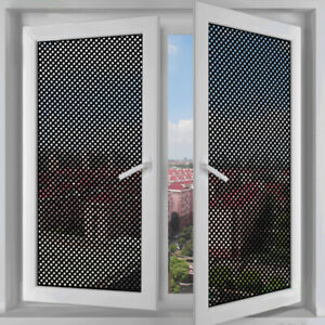 Mesh Window Film Black White Sun Window Glass Stickers Privacy Office Room