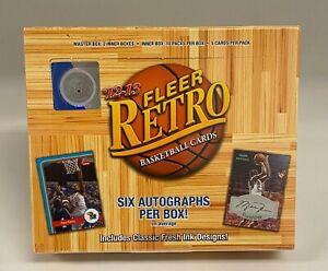 2012-13 Upper Deck Fleer Retro Basketball Hobby Box Sealed Anthony Davis RC Year