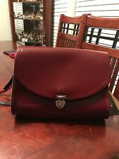 Cambridge Satchel Women's Oxblood Large Push Lock in Leather